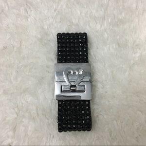 Jewelry - Silver and black gem bracelet